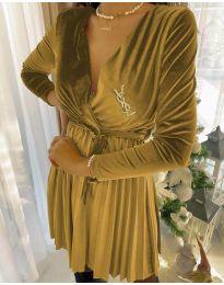 Фустан - код 8619 - 1 - жолта