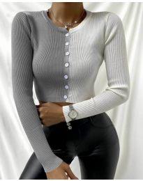 Блуза - код 6366 - 5 - шарена