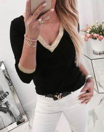Блуза - код 3149 - 1 - црна