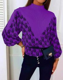 Блуза - код 3829 - виолетова