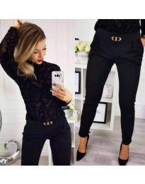 Панталони - код 9907 - црна