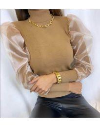 Блуза - код 0780 - кафеава