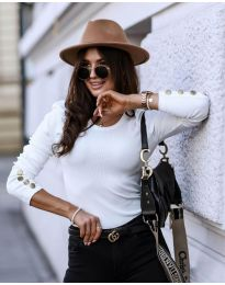 Блуза - код 4448 - бело
