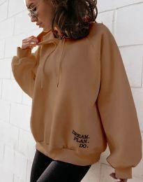 Блуза - код 4229 - кафеава