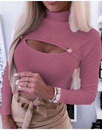 Блуза - код 3501 - 4 - розова