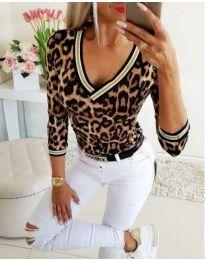 Блуза - код 31255 - 1 - шарено