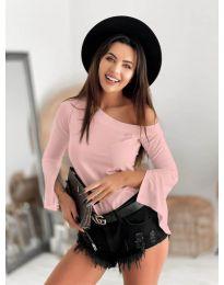 Блуза - код 8353 - розова