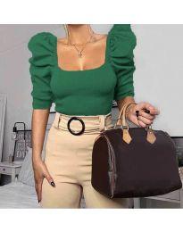 Блуза - код 9867 - зелена