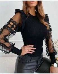 Блуза - код 40222 - црна