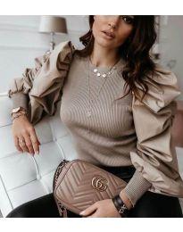 Блуза - код 3506 - кремова