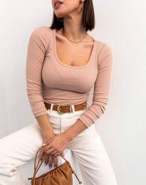 Блуза - код 11662 - пудра