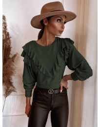 Блуза - код 7200 - путер зелена