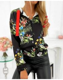 Блуза - код 4173 - црна