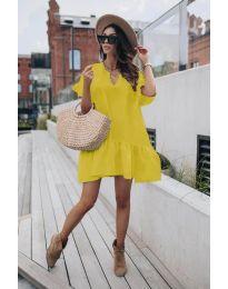 Фустан - код 6868 - жолта
