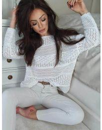 Блуза - код 2538 - бела