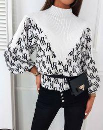 Блуза - код 3829 - бела