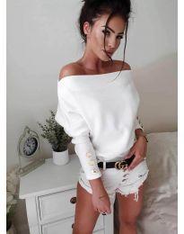Блуза - код 3732 - бело