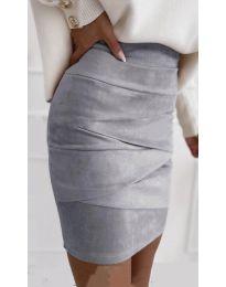 Сукња - код 7451 - сиво