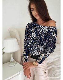 Блуза - код 5156 - 1 - шарена