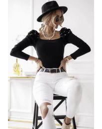 Блуза - код 15766 - 1 - црна