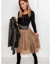 Сукња - код 2522 - кафеава