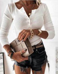 Блуза - код 1553 - 2 - бело