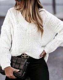 Блуза - код 1637 - бела