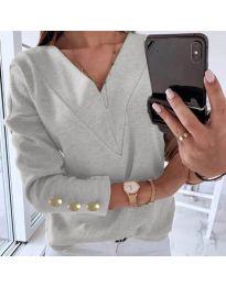 Блуза - код 0990 - сиво