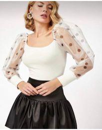 Блуза - код 11320 - 2 - бело
