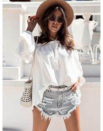 Дамска блуза в бяло - код 6561