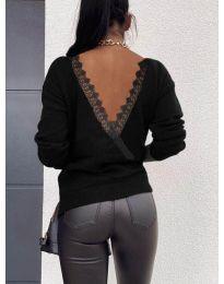 Блуза - код 6050 - црна
