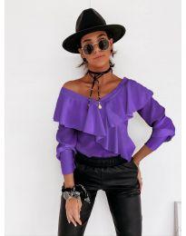 Блуза - код 6030 - виолетова