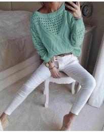 Блуза - код 6182 - ментол