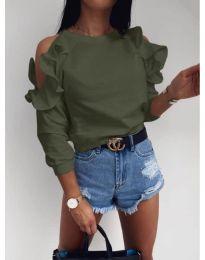 Блуза - код 3434 - путер зелена