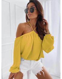 Блуза - код 6561 - жолта