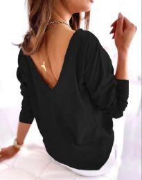 Блуза - код 5173 - 3 - црна