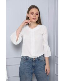 Блуза - код 0629 - 6 - бело