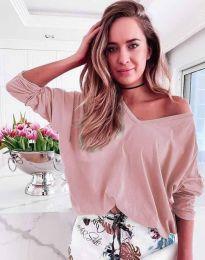 Блуза - код 3972 - пудра