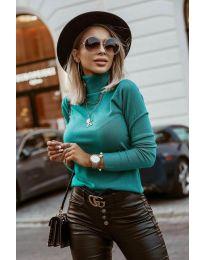 Блуза - код 8861 - зелена