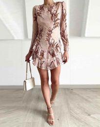 Фустан - код 3610 - 2 - кремова