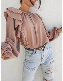 Блуза - код 0509 - пудра