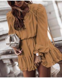 Фустан - код 3231 - кафеава