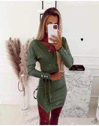 Фустан - код 2077 - путер зелена