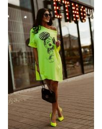 Фустан - код 3352 - неон зелена