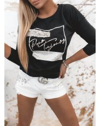 Блуза - код 4223 - црна