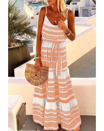 Фустан - код 621 - портокалова
