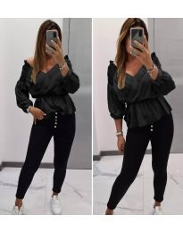 Блуза - код 7771 - црна