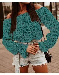 Блуза - код 5452 - тиркизна
