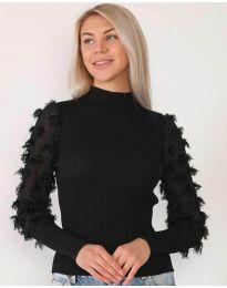 Блуза - код 7870 - црна