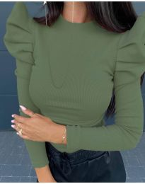 Блуза - код 8027 - зелена